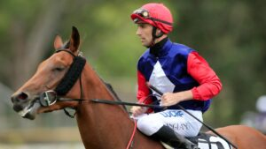 Tye Angland aboard Sweet Deal after winning at Rosehill back in 2018. Picture: Getty Images