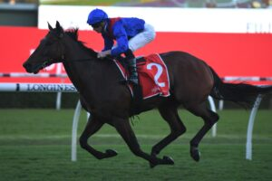 Lost And Running wins the closer at Randwick on Saturday.