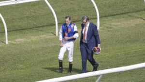 Hugh Bowman suffered a nasty fall in the first race at Randwick but was cleared to fulfil the rest of his rides. Picture: Getty Images