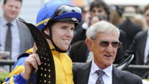 Tommy and Neville after one of Karuta Queen's wins.