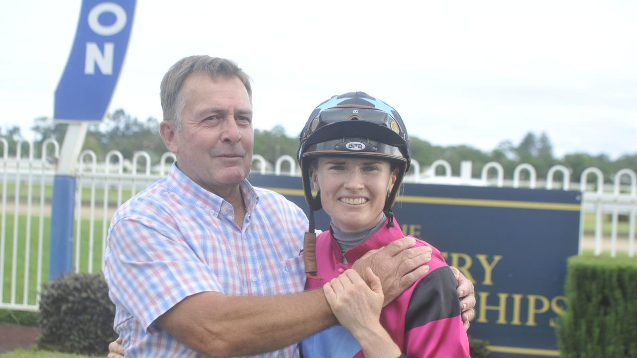 Rachel Murray and Warren Gavenlock with Plonka at the Country Championships qualifying heat at Grafton..