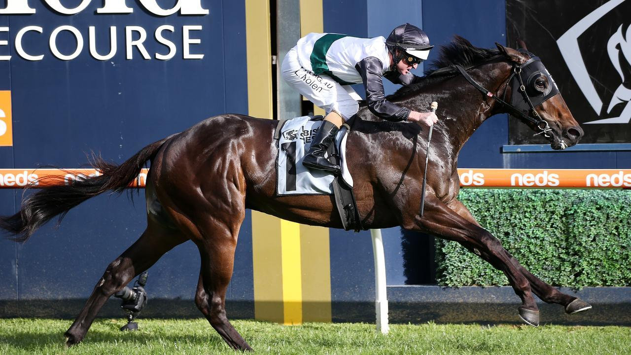 Finance Tycoon ridden by Luke Nolen wins the The Showdown. Photo: George Salpigtidis/Racing Photos via Getty Images