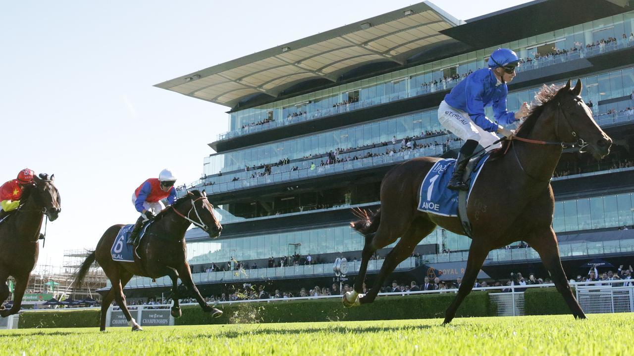 James McDonald rides Anamoe to win the Sires' Produce Stakes. Photo: Mark Evans/Getty Images