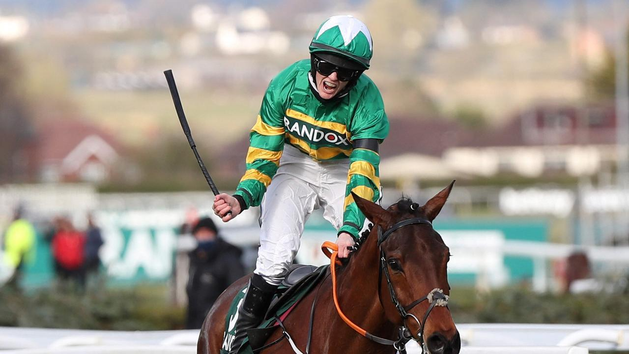 Rachael Blackmore rides Minella Times to victory in the Grand National at Aintree. Photo: Scott Happell / POOL / AFP