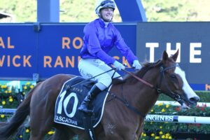 Jamie Kah and Cascadian return to scale after winning the Doncaster Mile.