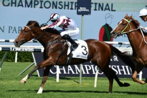 Art Cadeau on his way to victory in the 2021 Country Championships Final.