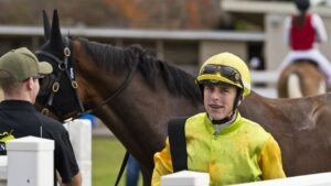 Jockey Baylee Nothdurft. Picture: Kevin Farmer.