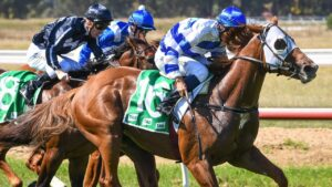Wegottem Today Son salutes at Werribee last Thursday. Picture: Racing Photos
