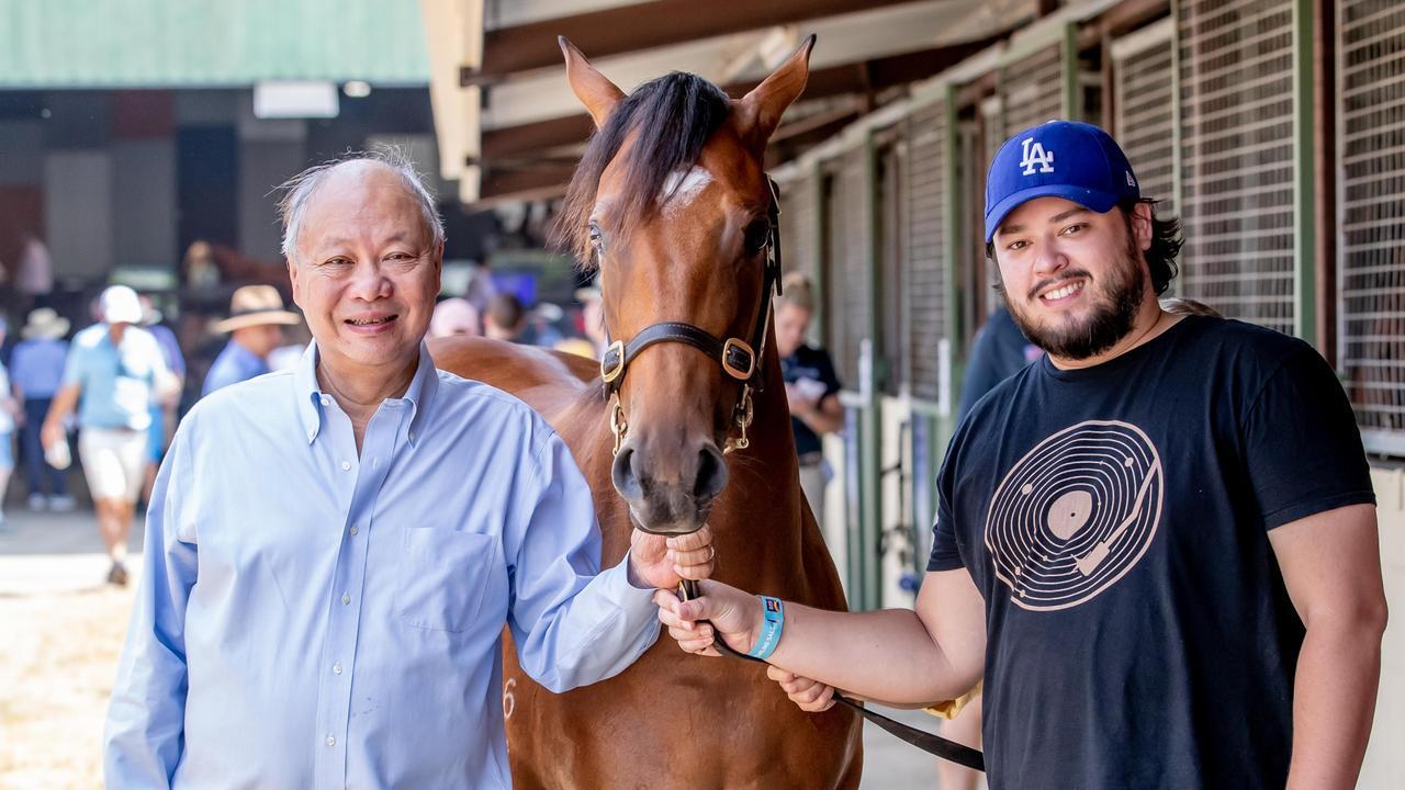 Tony Fung and son Justin. Photo: Luke Marsden.