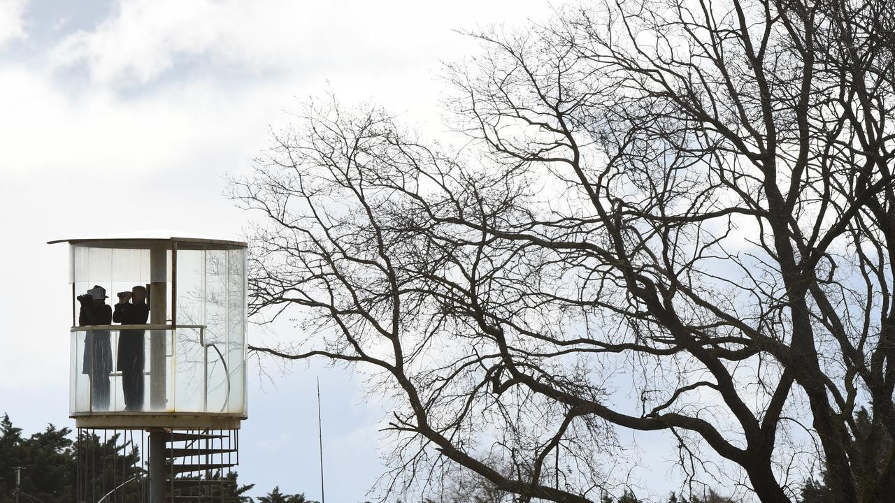The stewards' tower at Ballarat racecourse. Picture: AAP