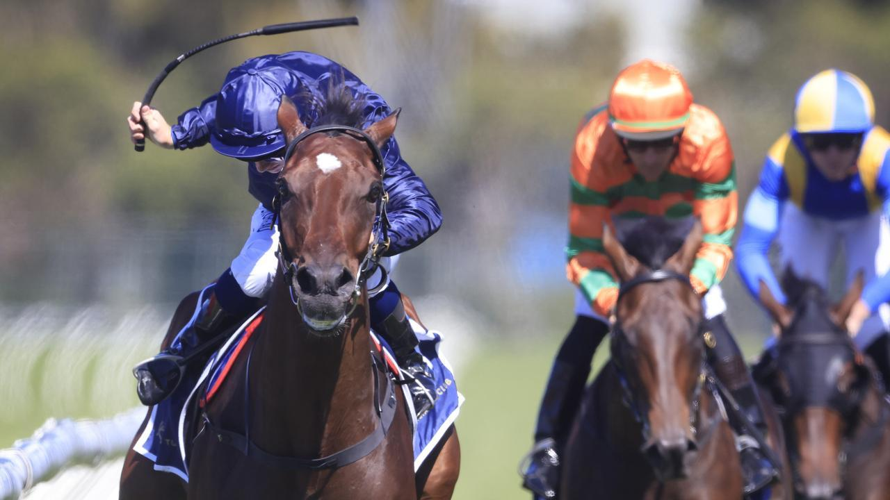 Tim Clark guides Yaletown to victory in the Tulloch Stakes at Rosehill. Picture: Getty Images