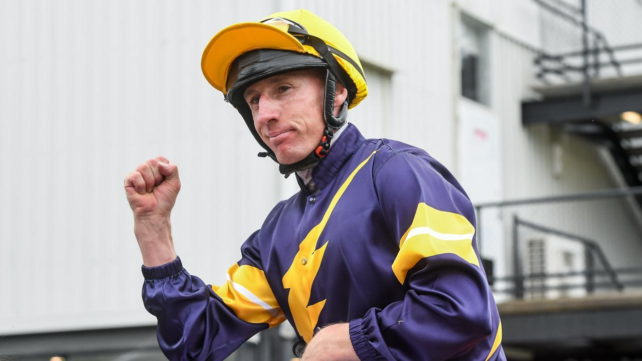William Pike returns to the mounting yard on Mount Popa after winning the Mornington Cup. Picture: Getty