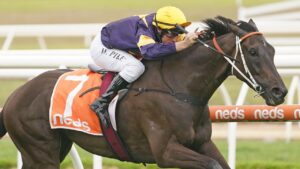 Mount Popa cruising to victory under William Pike. Picture: Getty