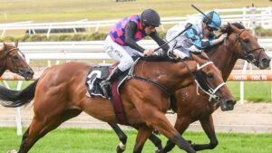 Dom To Shoot claimed a consolation win in the Mornington Guineas. Picture: Racing Photos via Getty Images