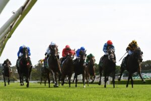 Probabeel winning the 2020 Surround Stakes.