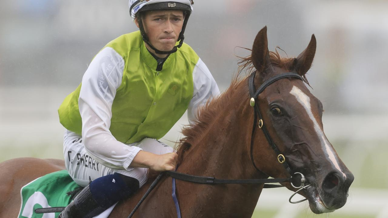 Tom Sherry on Another One returns to scale after winning at Royal Randwick. Picture: Getty Images