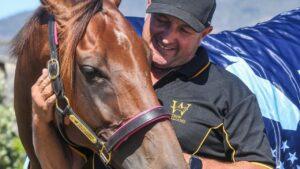 Trainer Grant Williams with Arcadia Queen