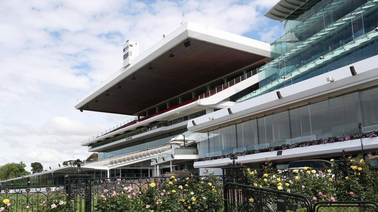 Empty stands which will be the case on another Group 1 day at Flemington. Picture: NCA NewsWire/ David Crosling.