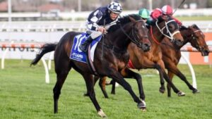 Russian Camelot and jockey Damien Oliver teamed up again in a barrier trial at Werribee on Tuesday morning.