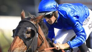 Hugh Bowman and Savatiano take out the Expressway Stakes at Rosehill Gardens.