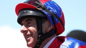 Jockey Craig Robertson has done it tough to get back into the saddle after a serious shoulder injury almost ended his career. Picture: AAP