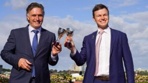 Lindsay Park trainers Tom Dabernig and Ben Hayes will be active at the Magic Millions sales. Picture: Getty Images