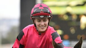 Anna Jordsjo received a suspended fine for her part in an argument in the female jockeys' room at Gawler. Picture: AAP