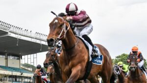 Grandview Avenue romps to victory with Teodore Nugent on board. Picture: Racing Photos via Getty Images