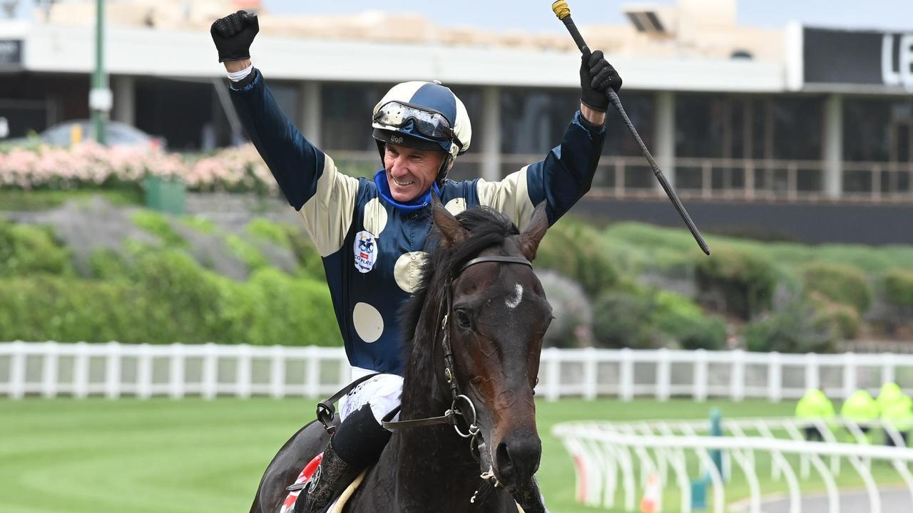 Huge numbers watched Glen Boss win Saturday's Cox Plate at The Valley on television. Picture: SDP Media