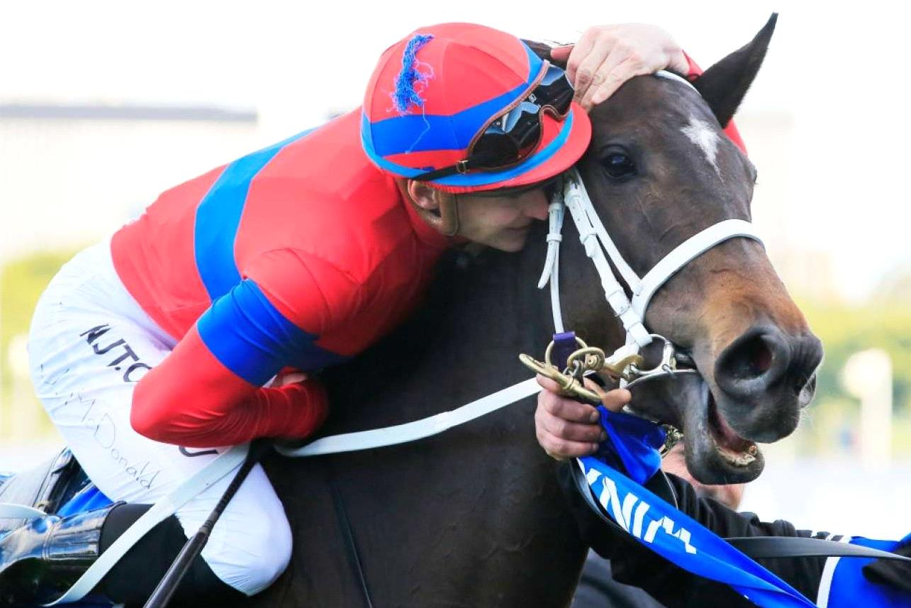 Verry Elleegant after winning the Group I Winx Stakes.