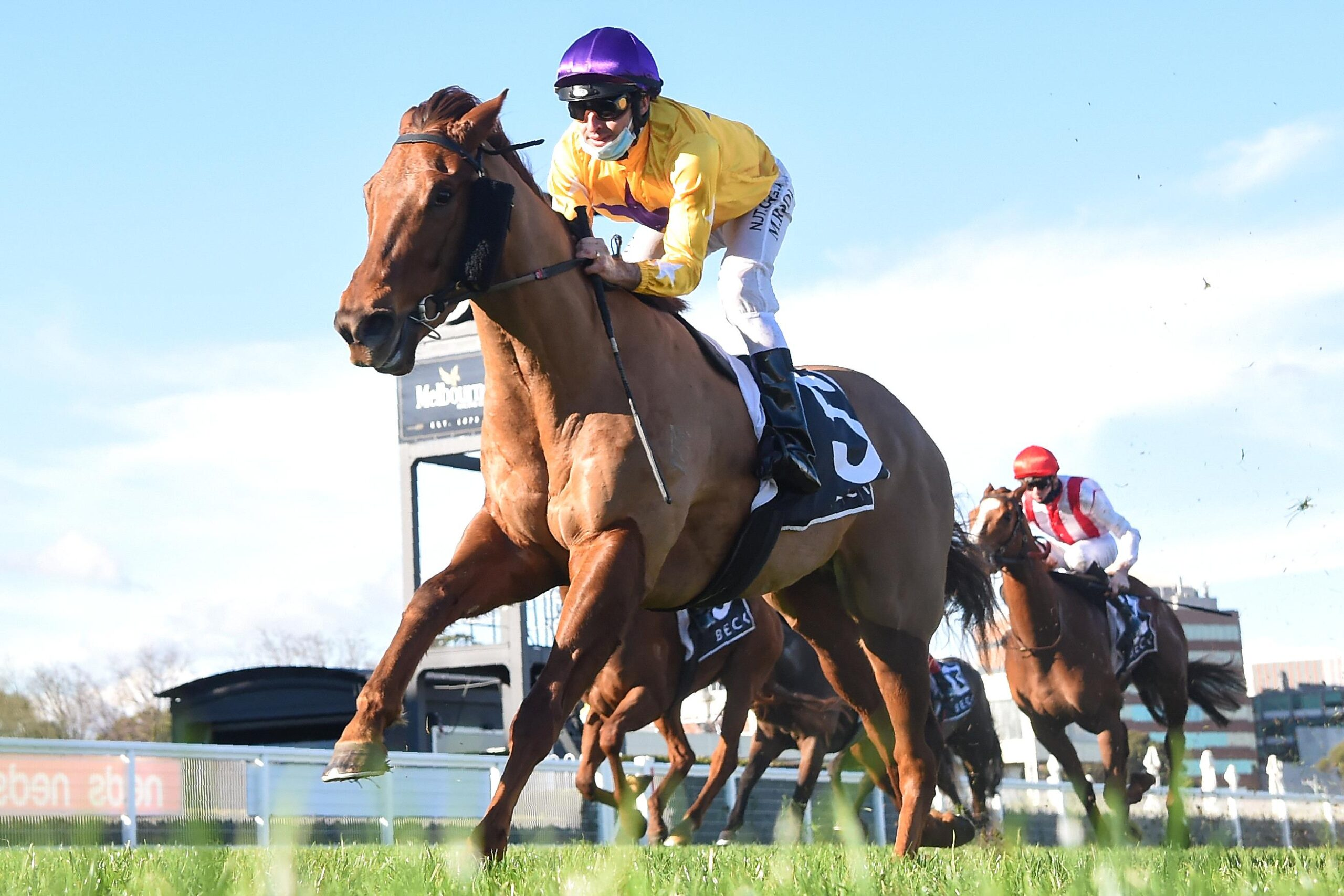 Bella Nipotina was simply too fast for her opposition in the Quezette Stakes at Caulfield.