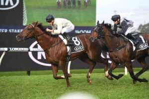 Noble boy winning the Winter Stakes.