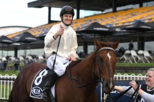 It was certainly a case of thumbs up from Jason Collett after Noble Boy won the Winter Stakes.