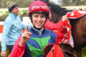 Campbell Rawiller gets first city win at Sandown earlier this month.