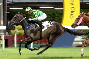 Brazilian jockey Joao Moreira booted home a double at Wednesday's Happy Valley races in Hong Kong.