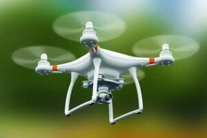 A drone was seen flying over a race at Sha Tin on Sunday.