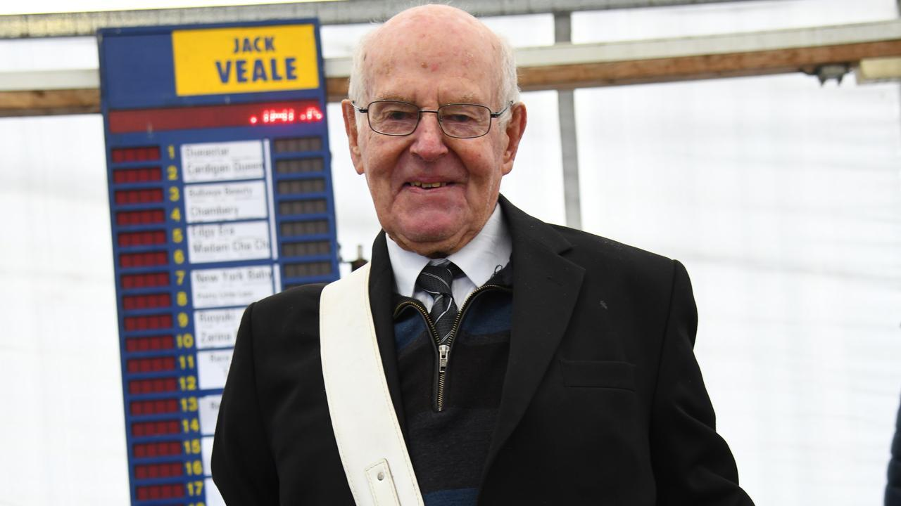 Bookmaker Jack Veale was back in the Warrnambool betting ring. Picture: Vince Caligiuri/Getty Images