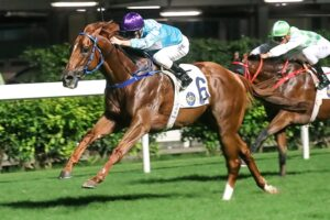 Yee Cheong Baby gave Zac Purton another treble at Happy Valley on Wednesday.