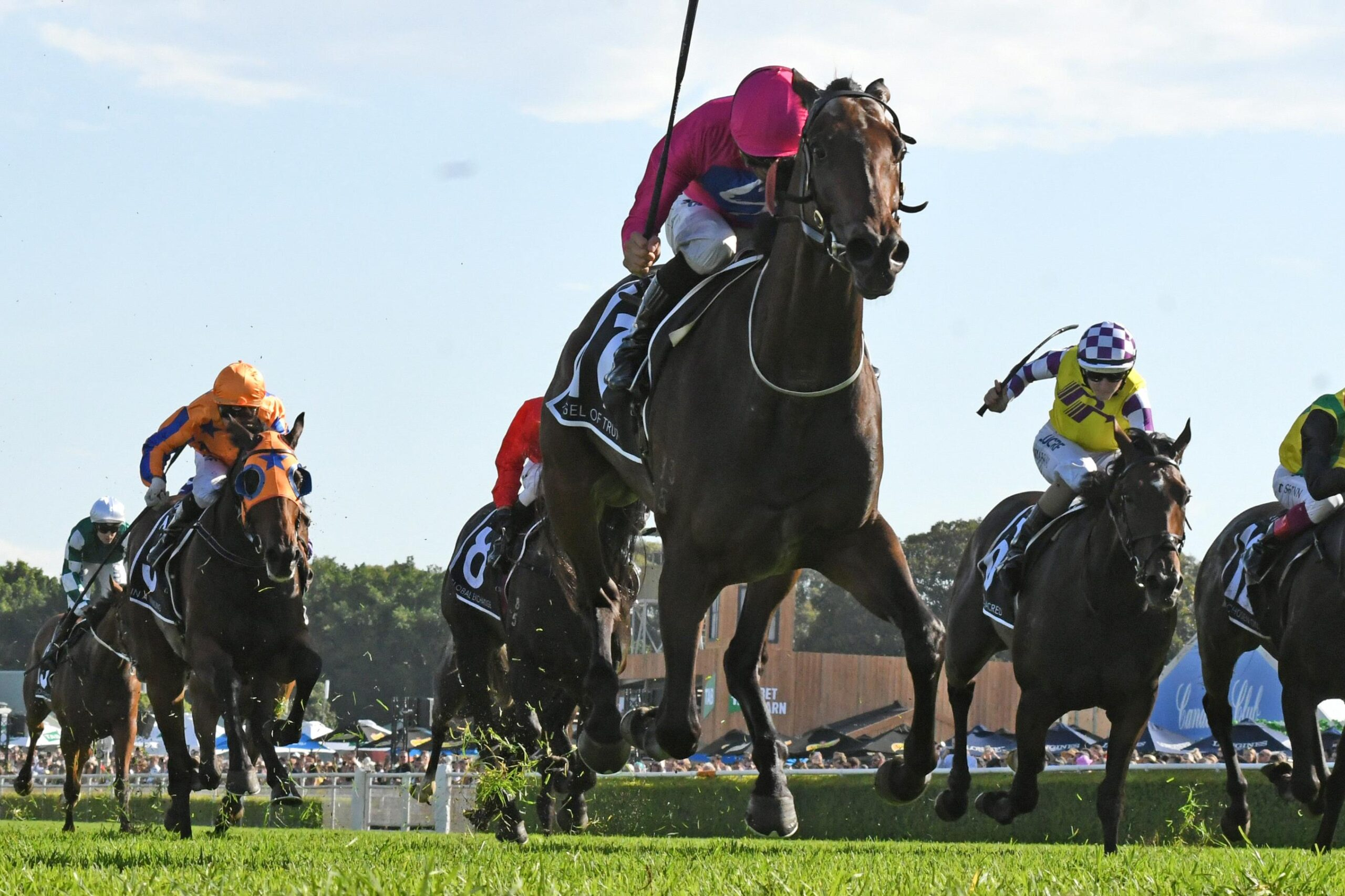 Angel Of Truth led all the way in a dominant Australian Derby performance.