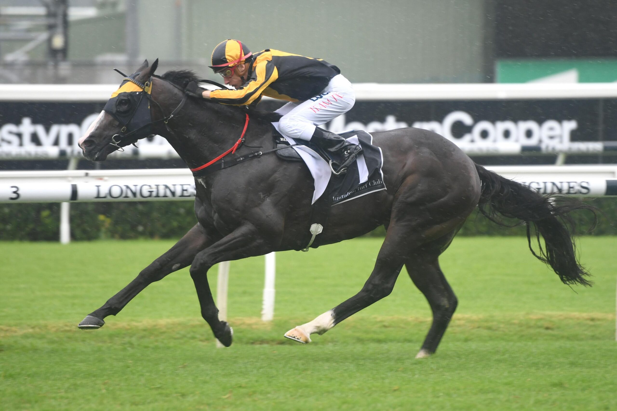 Blake Shinn guides Trapeze Artist to victory in the Canterbury Stakes.