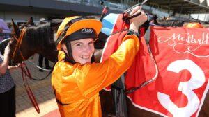 Caitlin Jones will ride Goliotus at Morphettville. Picture: Tait Schmaal
