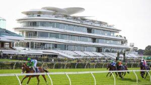 Grand Promenade racing to victory at Flemington under Jamie Kah. Picture: Racing Photos