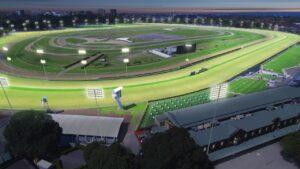 An artist's impression of night racing at Royal Randwick
