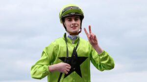 Teo Nugent leads the Rising Stars apprentice series with two races remaining. Picture: AAP