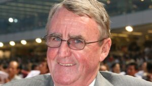 Champion trainer Laurie Laxon pictured in Singapore in 2008. Picture: Bruno Cannatelli