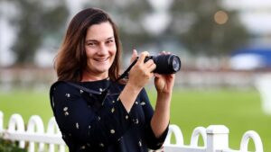 Nini Vascotto on the job as social media manager for the ATC. Picture: Hollie Adams