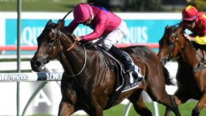 Angel Of Truth gave owner/breeder Ross Williams his biggest win when victorious in the Group 1 Australian Derby in 2019. Picture: AAP Image