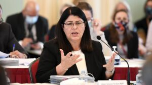 The pressure is mounting on Queensland Racing Minister Grace Grace. Picture: NCA NewsWire–Dan Peled