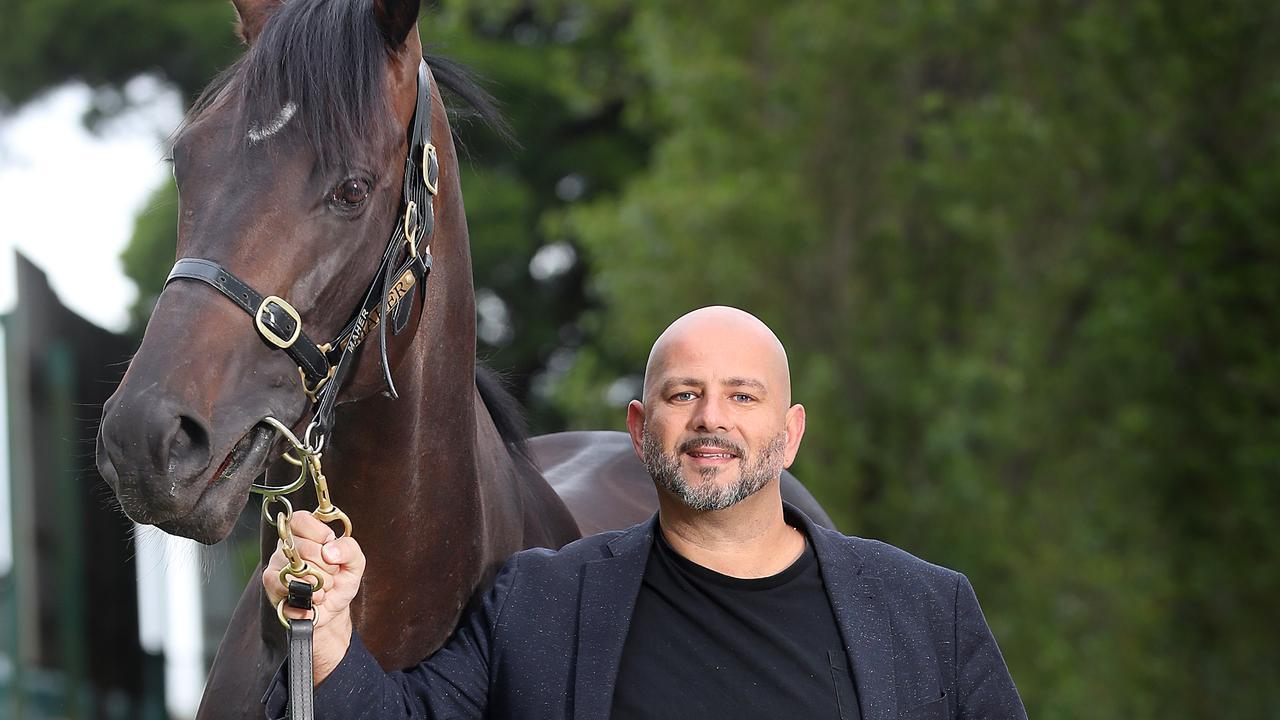 Ozzie Kheir with Cox Plate winner Sir Dragonet. Picture: Alex Coppel