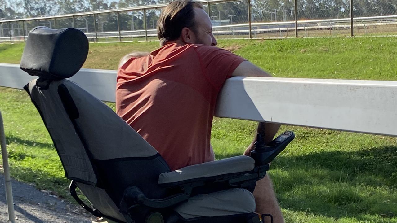 Trainer Darryl Johnston watching a race.